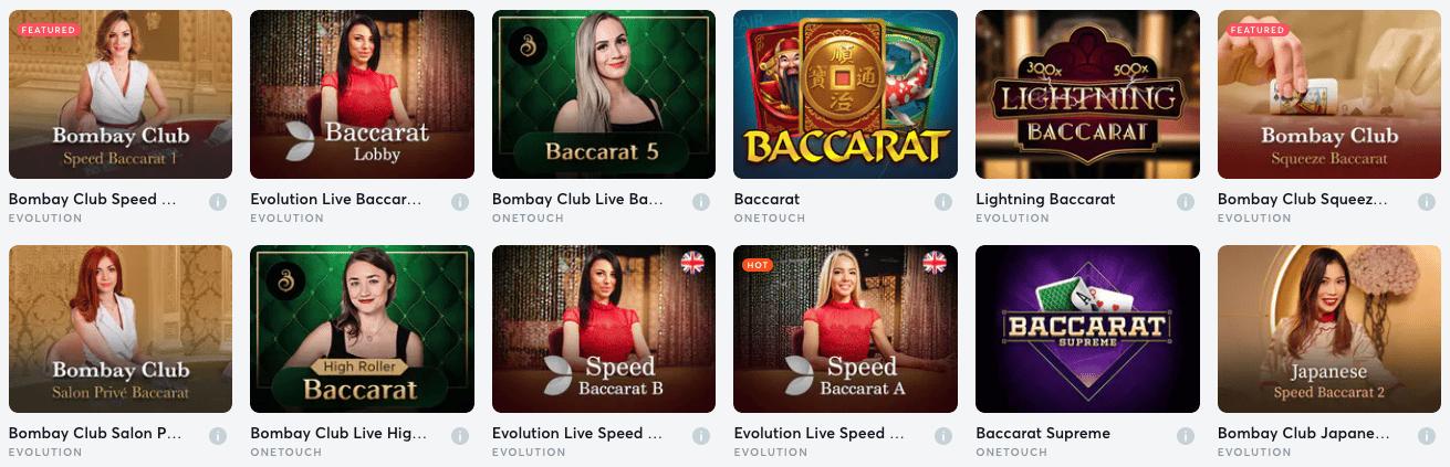 Baccarat Games En