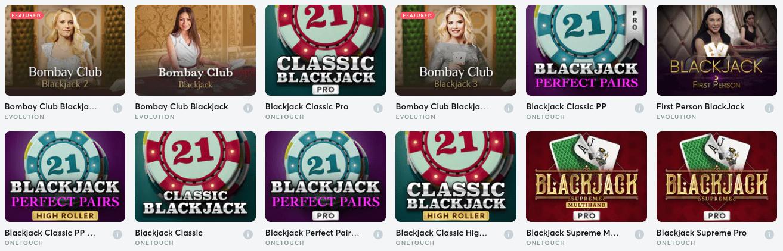 Blackjack Games En