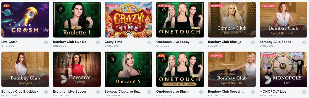 Live Casino Games En