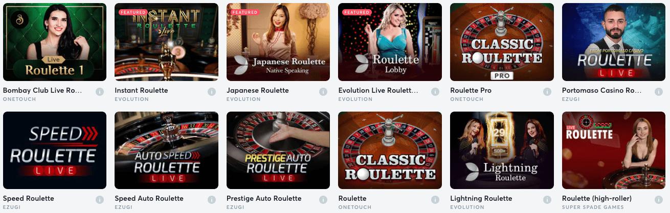 Roulette Games En